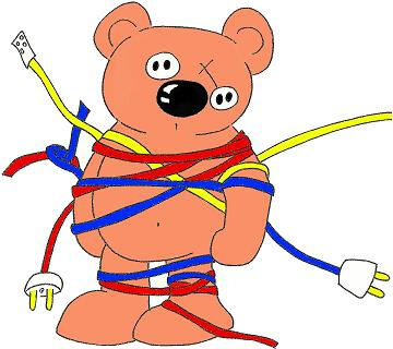 Wired bear